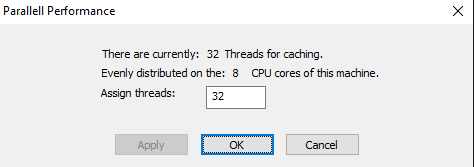Parallel Performance Dialog in MaxVeloSSD
