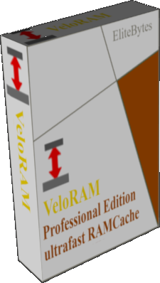 VeloRAM cache software cardbox image